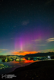 Northern lights and volcano | by Jokull