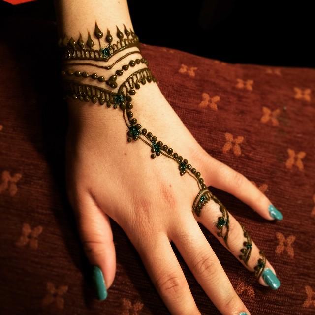 Very Simple Henna Jewelry Design Henna Hennaart Hennapr Flickr
