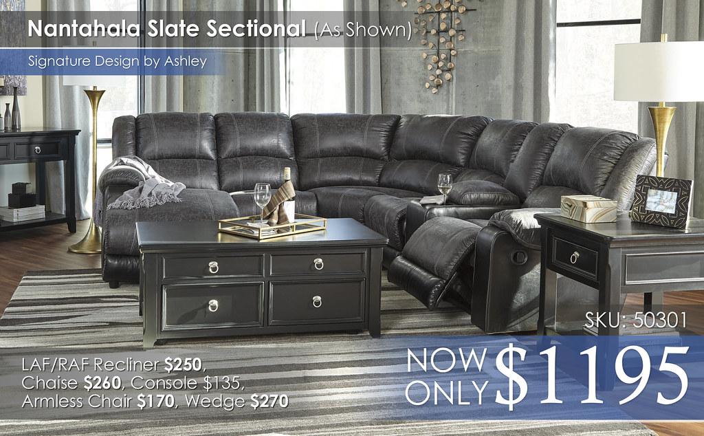 Nantahala Slate Sectional Special 50301-16-46-77-19-57-41-T811-AHS