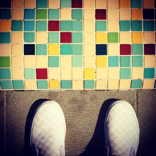 Squares Squares Quadrati Mosaico Vans Scarpe Bian Flickr