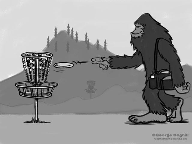 Bigfoot Disc Golf Cartoon Sketch Coghill Cartooning Flickr