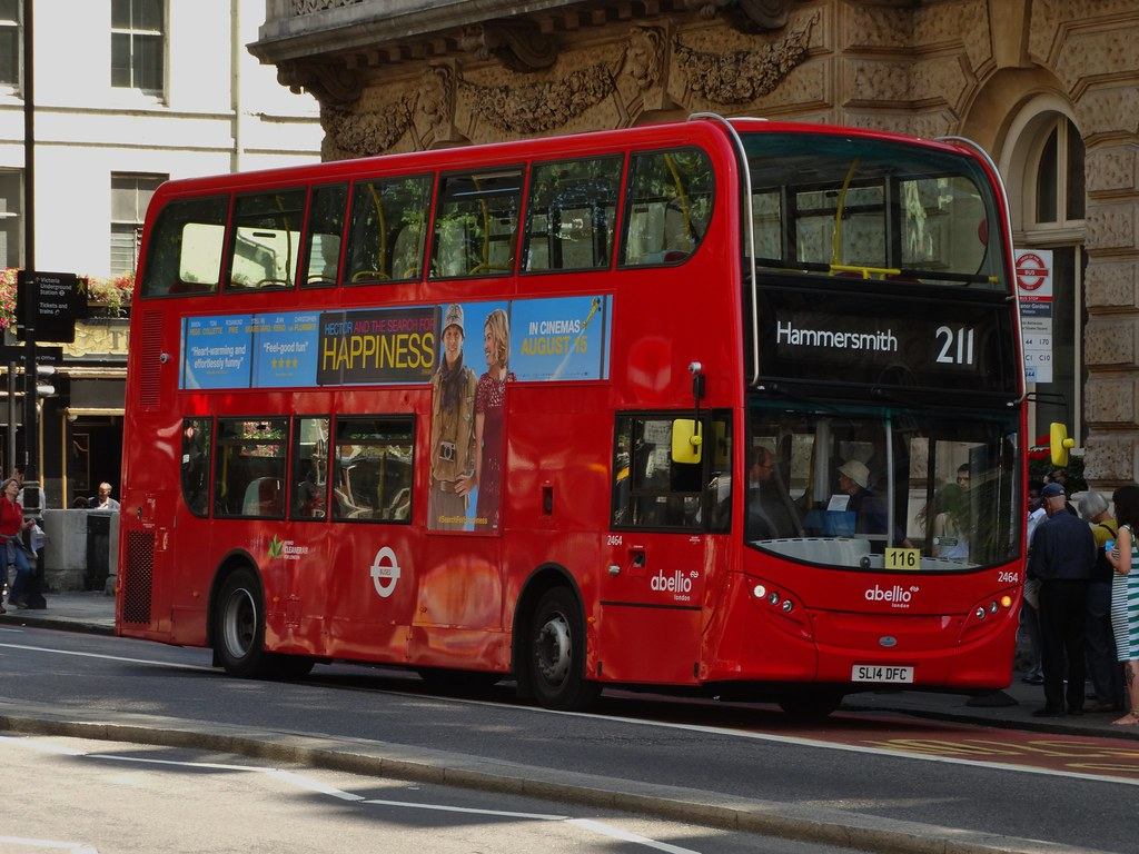 ... Abellio London Alexander Dennis Enviro400H (2464 - SL14 DFC) 211 | by  London Bus