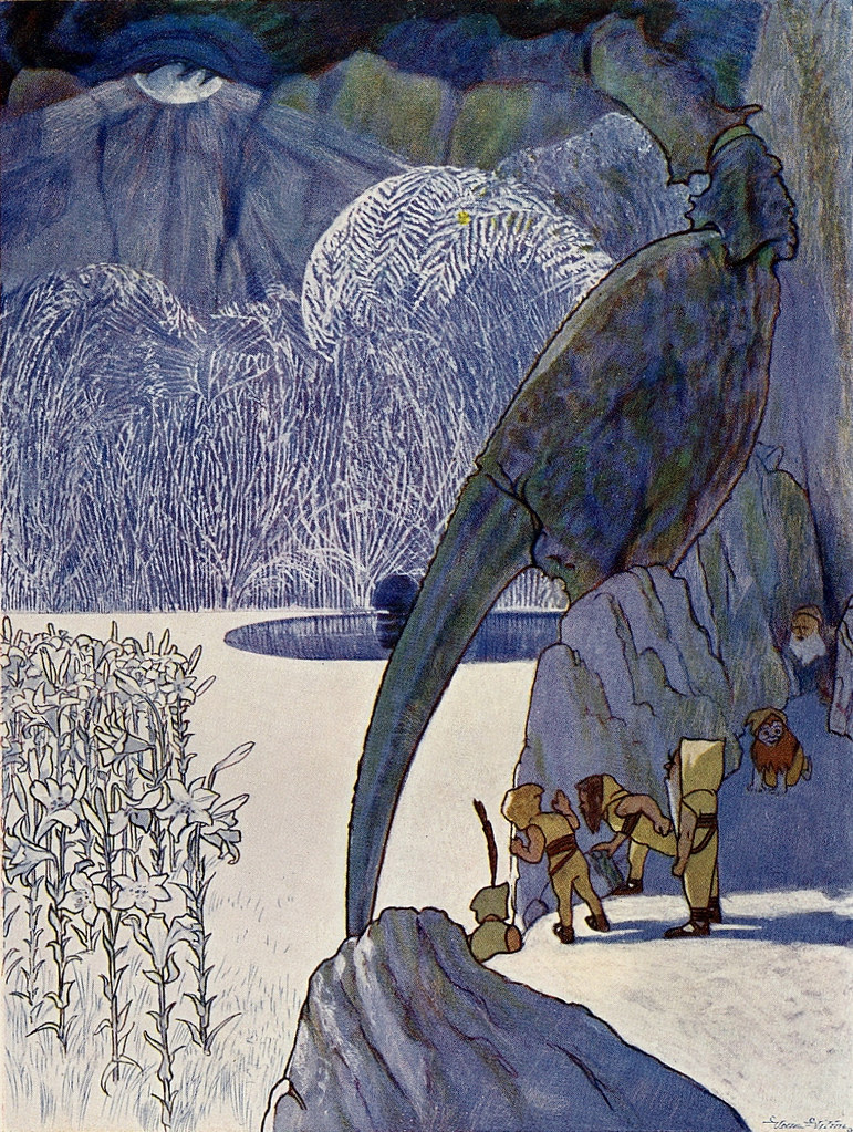 Artus Scheiner - Illustration from T. E. Tisovský - King Mouselet And Prince Youth - The Bold Dwarfs´Adventures, 1905