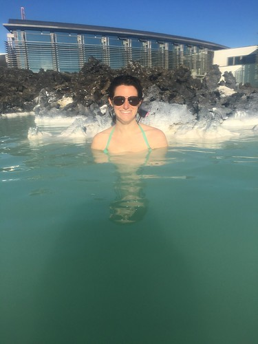 Sitting in the Blue Lagoon