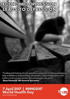 Economic oppression leads to depression