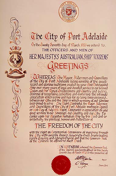 Certificate from the City of Port Adelaide giving the offi… | Flickr
