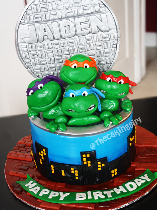 TMNT cake Visit my Blog at wwwTheCakingGirlca My Fac Flickr