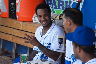 Ventura in the dugout, talking about 3 of something | by Minda Haas Kuhlmann