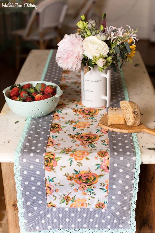 Matilda Jane Vibrant Bouquet Table Runner