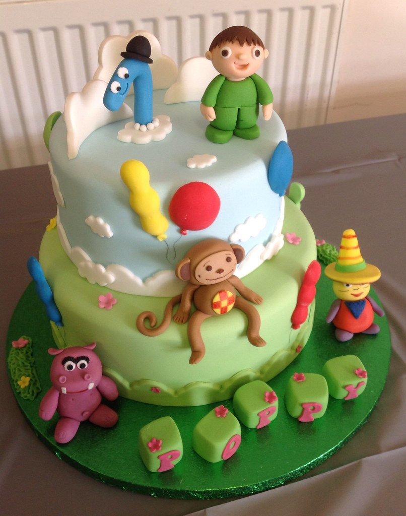 Baby TV 1st Birthday Cake Liz Flickr