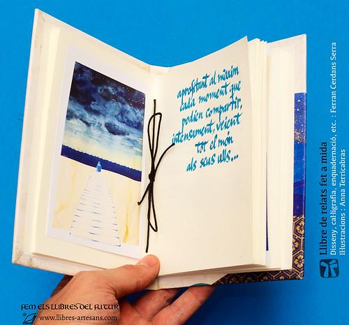 Il·lustració impresa: Anna Terricabras; text manuscrit: Ferran Cerdans