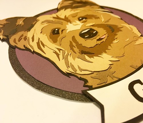 Custom Paper Pet Portrait - Yorkie