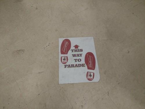 This way to parade