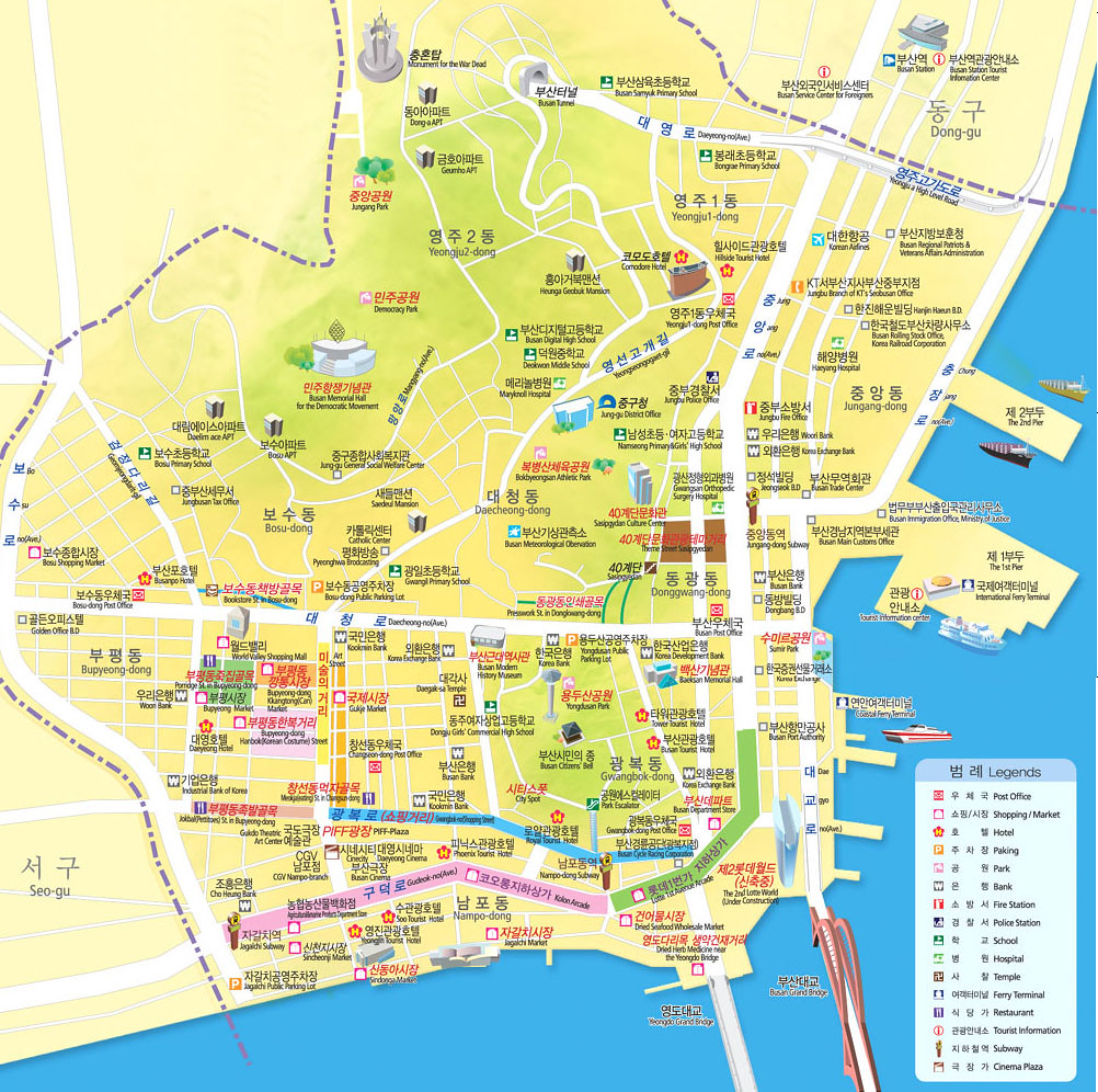 Junggu Busan Map Where To Exchange Money In Busan And How Flickr - Busan map