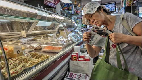 Customer, at Super Deli, 144-10 Northern Boulevard, Flushing, NYC 2014.08.29 | by NYC Subway Rider