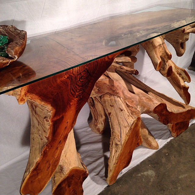 Genial #furniture # #reclaimed #teak Tree Trunk Console Tables. Rustic / Modern. # Furniture #