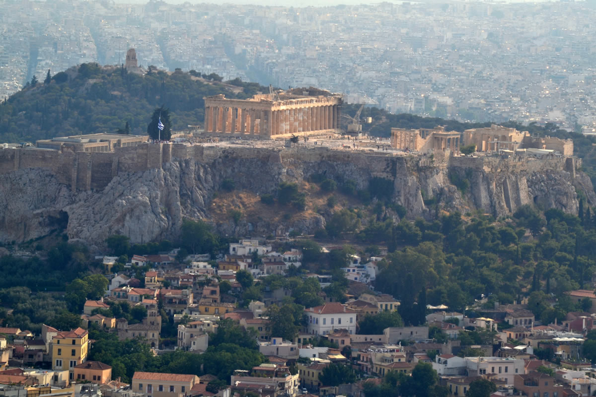 La Acrópolis desde la colina del Licabeto