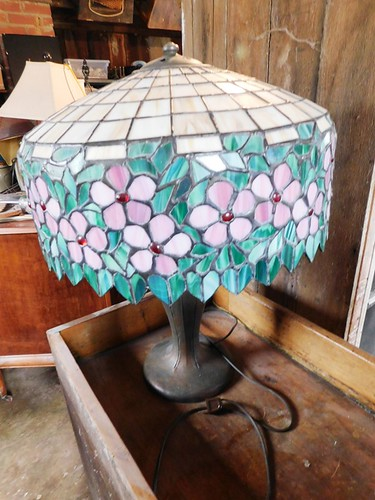 Leaded glass parlor lamp | by thornhill3
