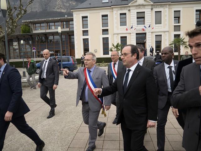Déplacement de François Hollande