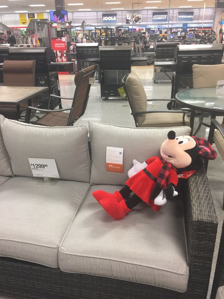 lounging furniture. Minnie Mouse Lounging On The Patio Furniture At Sears | By M01229 N