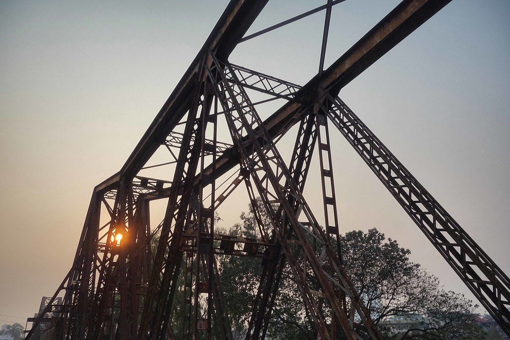 Hanoi - Long Bien Bridge - Sunset