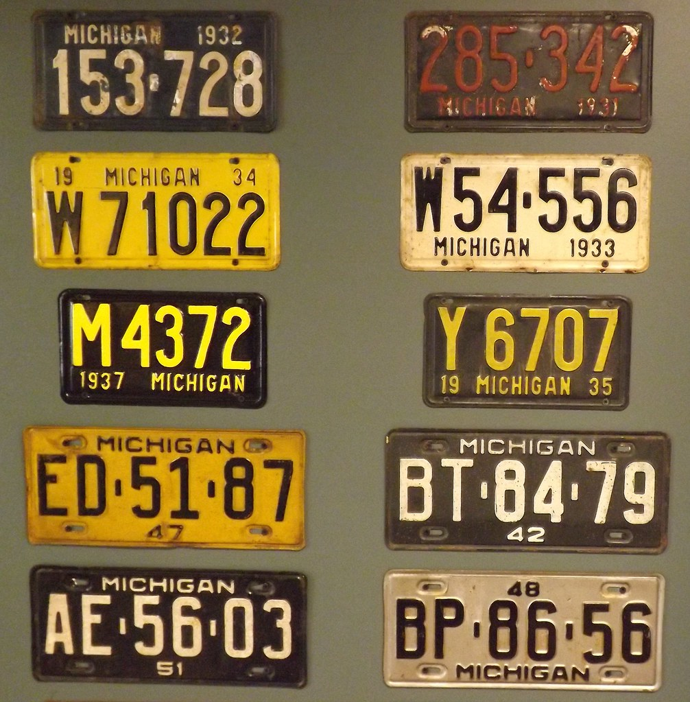 Detroit Historical Museum: License Plates From 1930s to195… | Flickr
