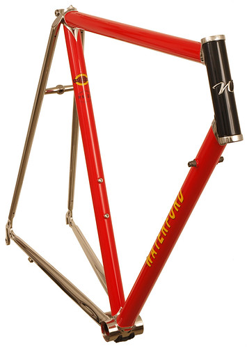22-Series with Stainless Lugs and Stays - in Intense Red - Front View | by waterfordbikes