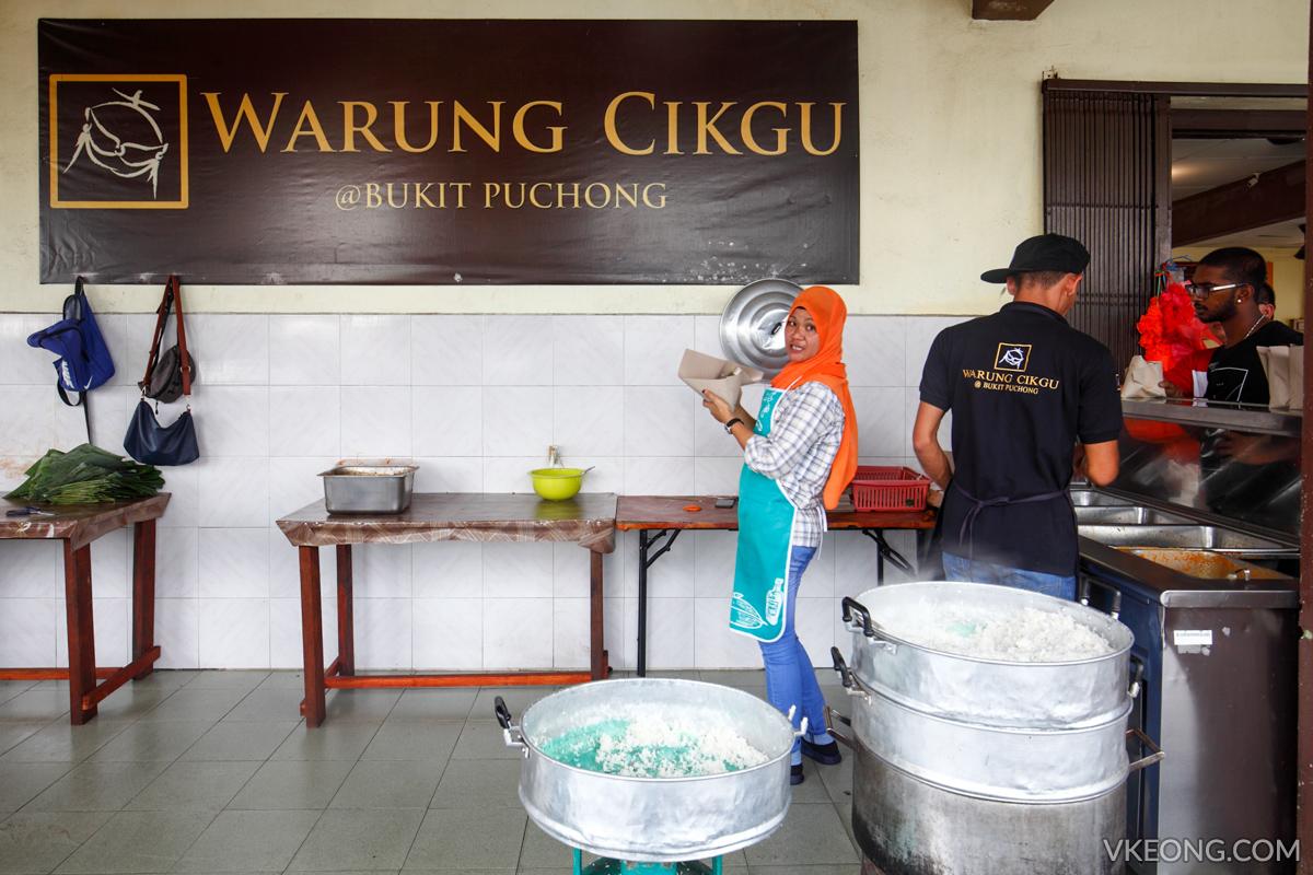 Warung Cikgu Nasi Kukus Ayam Berempah Stall