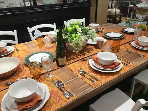 dining table setting,  Rustan's