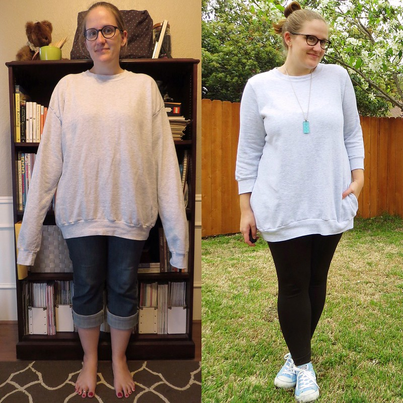 Sweatshirt Refit - Before & After