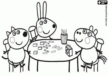 os amigos do peppa pig desenhos do peppa pig para colorir flickr