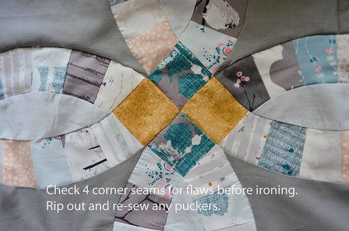4. Check center seams for any flaws, and redo as necessary. Sometimes have to take out older seams and do new ones.