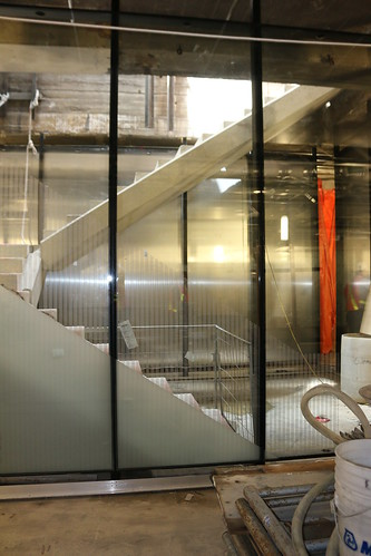 Stairs leading from train platform level to the new York GO Concourse. | by Metrolinx
