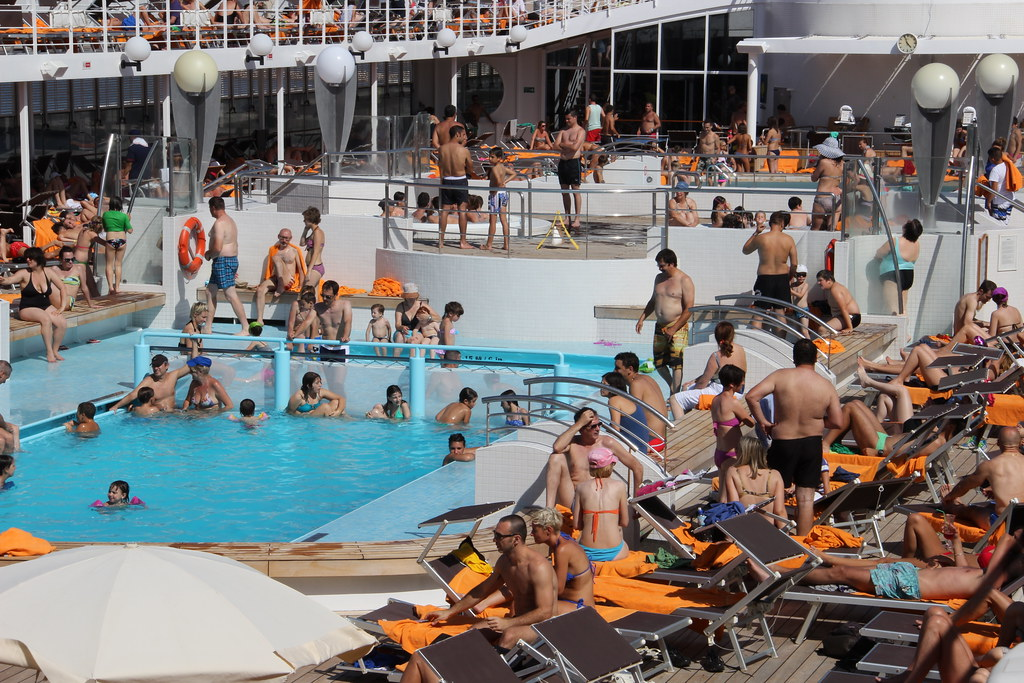 MSC Cruises Lirica Cruise Ship Pool Deck Medwayoflife Flickr - Cruise ship topless