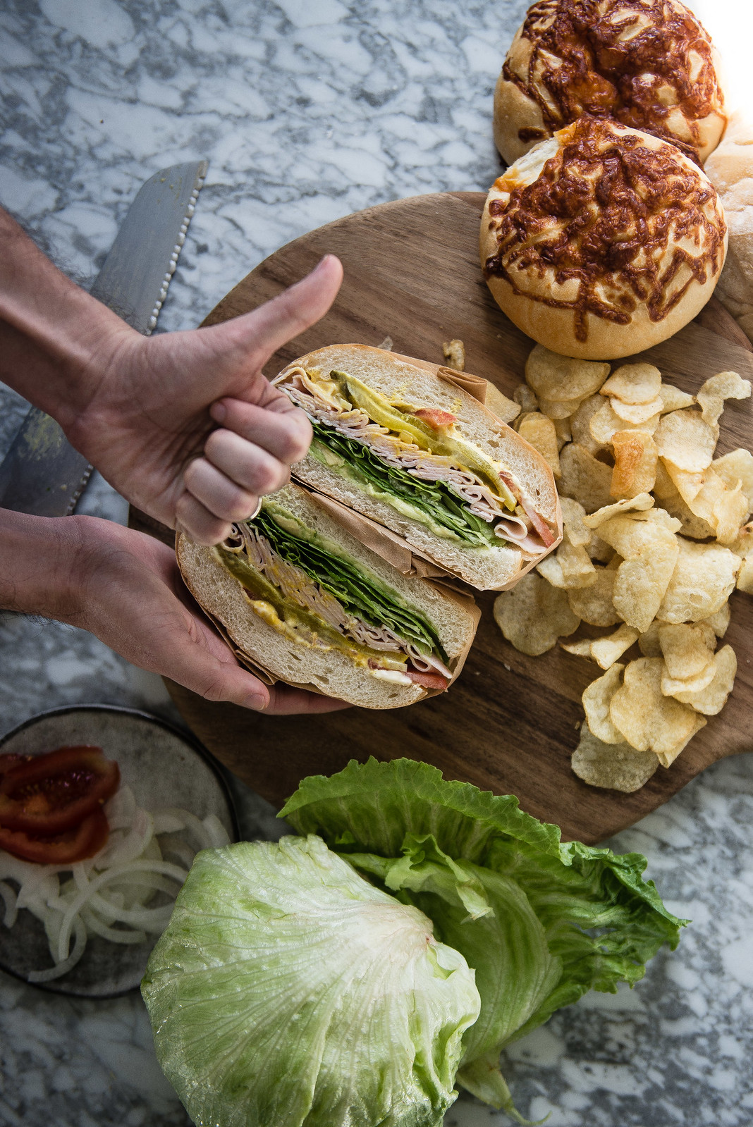 turkey & avocado sandwich (a b2 post!) | two red bowls