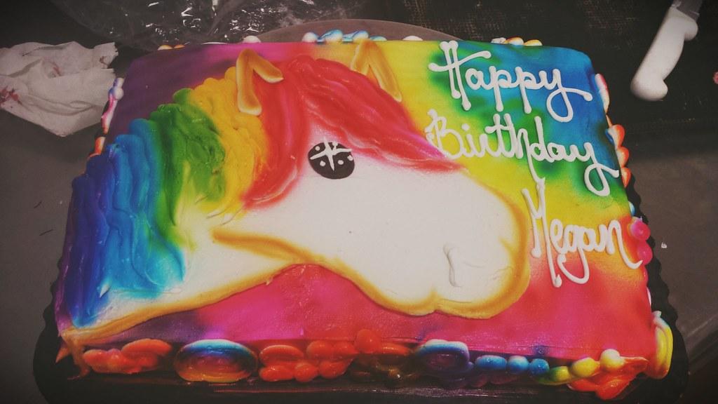 Tye dye unicorn sheet cake tyedye unicorn magical uni Flickr
