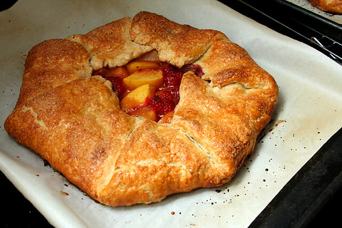peach raspberry galette 10 | by crumblycookie