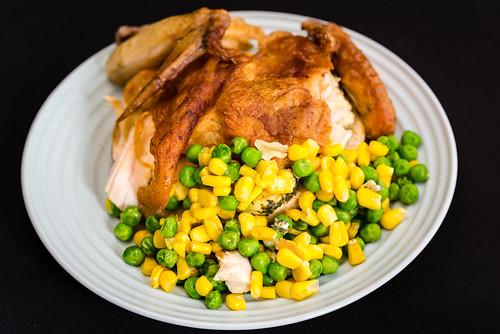 Leftover roast chicken | Leftover roast chicken on a fried c ...