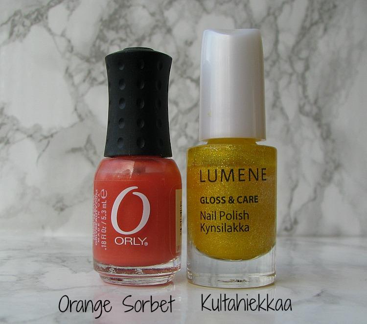 orly orange sorbet lumene kultahiekkaa