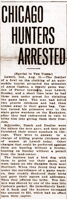 Lake Co Times Amos C arrests hunters 21Aug1913