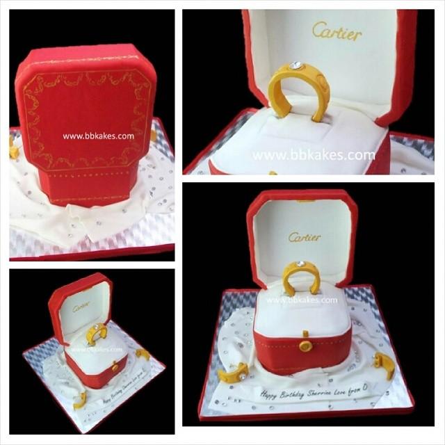 Cartier Diamond Love Ring In Box Cake By Bbkakes Bbkakes Flickr