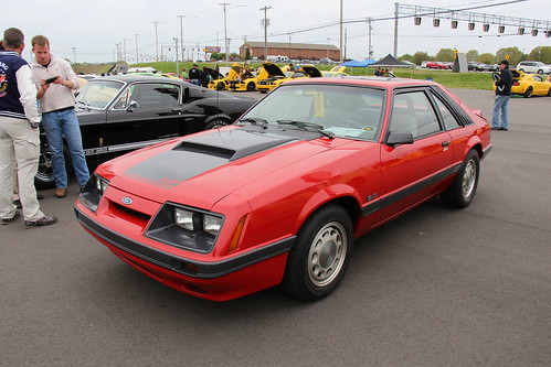 1986 Ford Mustang Gt Hatchback Bright Red Fords Pony