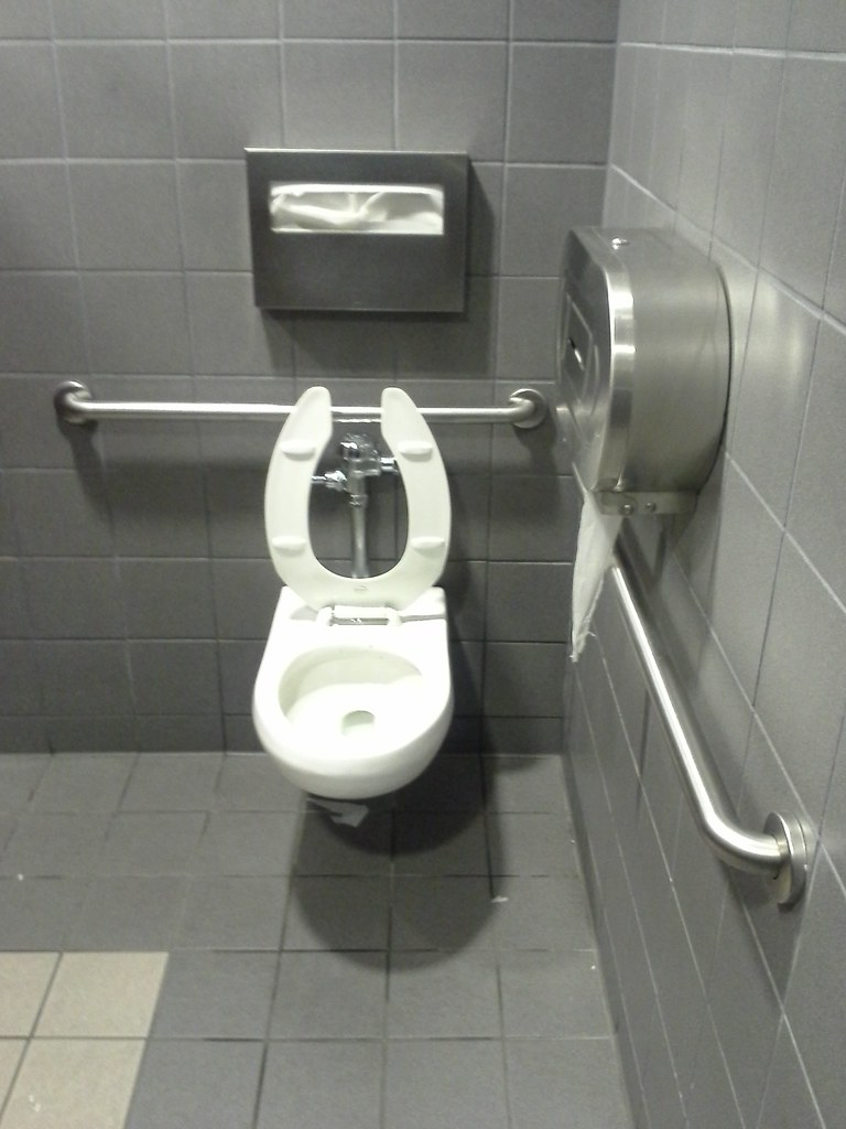 Public toilet @Avis Car Rental | JFK Airport Notice the seat… | Flickr