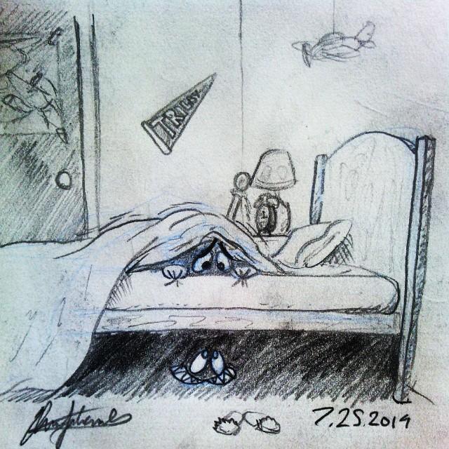 Daily Doodle UnderMyBed Drawing Cartoon Sketch Kid