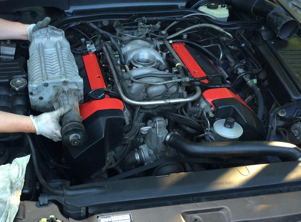 mercedes r129 sl500 v8 m119 engine kompressor supercharger flickr rh flickr com M119 Mercedes Le Mans Mercedes-Benz M119 Engine
