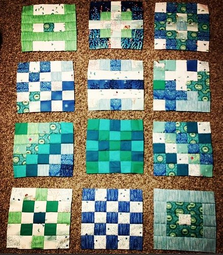 Wee Wander Blue and Green | by Pitter Putter Stitch