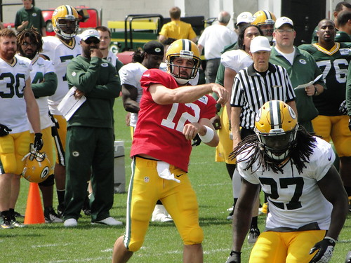 Aaron Rodgers, Eddie Lacy | by Kyle Engman