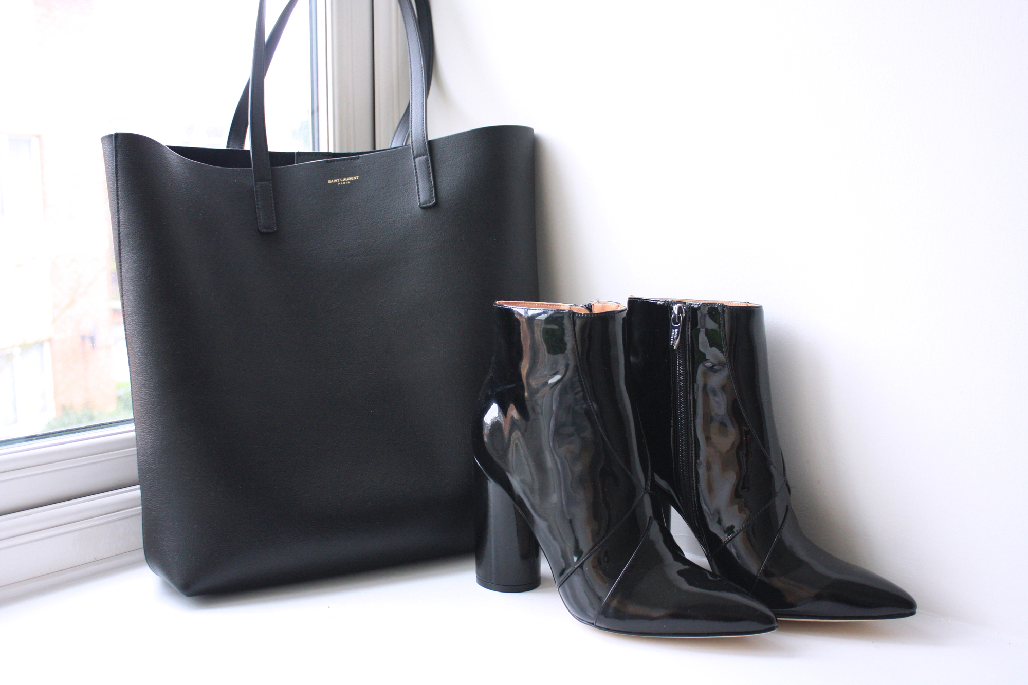 saint laurent shopper bag sigerson morrison patent leather boots