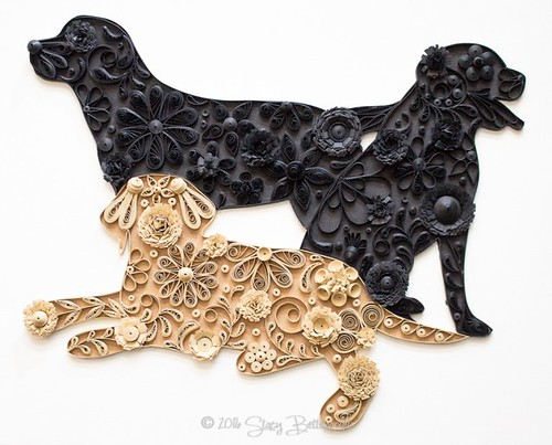 Quilled Labrador Retriever Trio by Mainely Quilling