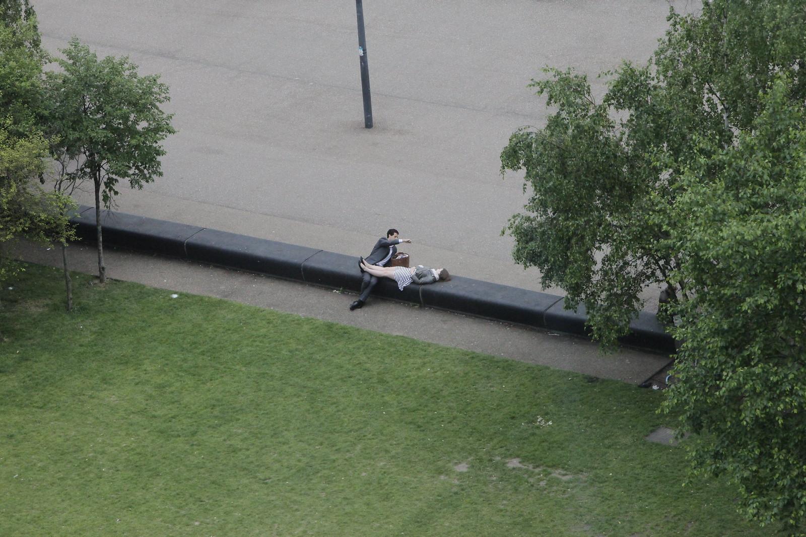 Feeding Birds In The Park...   by czolacz